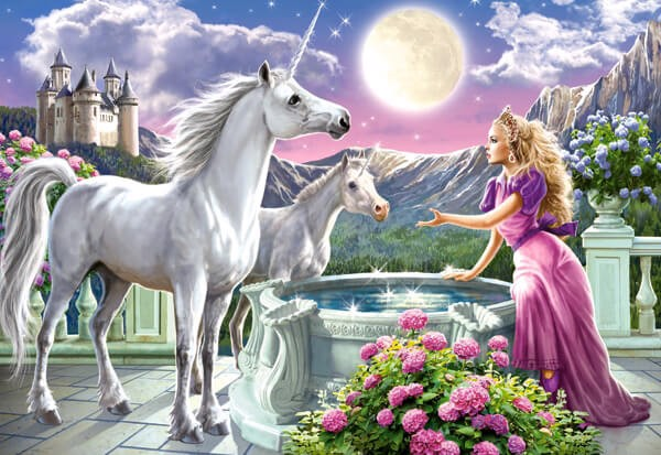 Image of   Princess and her Unicorn
