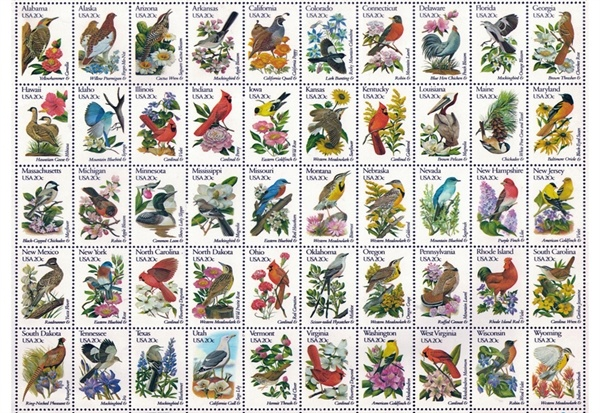 Image of   Bird Stamps