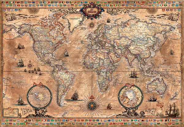 Image of   Antique World Map