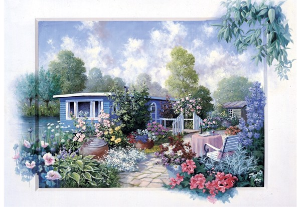 Image of   Garden with Flowers