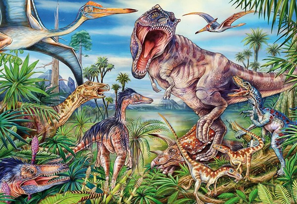 Image of   Amongst the Dinosaurs