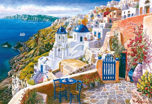 Image of   View from Santorini